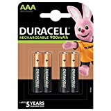 Duracell 0394203822 - Pilas recargables StayCharge AAA (pack de 4 pilas), 900mAh