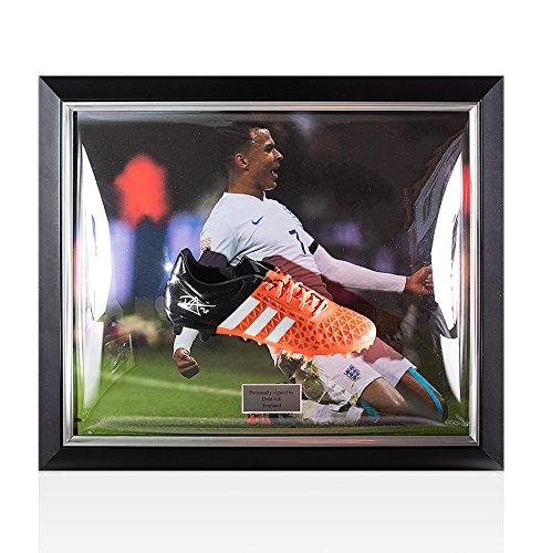 Framed-Dele-Alli-Signed-Football-Boot-Adidas-Ace-England