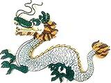 """Drachen China Aufnäher Patches Drachen Aufnäher groß für Jacken Kutten Stoff Kleidung Hosen Jeans Ornamente Bügelbilder Bügel Flicken Patches Applikation Aufnäher zum aufbügeln """" Drachen 26 x 14 cm"""