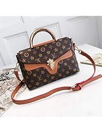 Taschen WomenSimple und stilvolle EIN-Schulter-Handtasche gedruckt Letter Lock Tasche