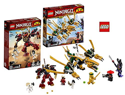LEGO Ninjago 70665 Samurai-Roboter Ninjago 70666 Goldener Drache