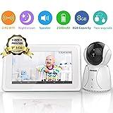 "BIGASUO Video Baby Monitor with Camera Wireless Digital 720P 7"" HD LCD Screen"