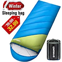 Fundango Camping Sleeping Bag, Lightweight Waterproof Oversize Adult Sleeping Bag For 4 Season Traveling, Camping, Hiking, Outdoor Activities