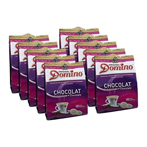 10x DOMINO Kaffeepads Schokolade (á 18 Pads)