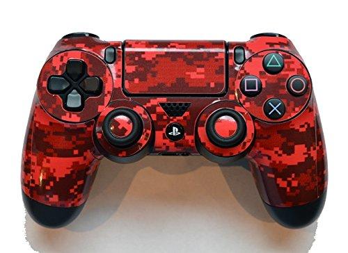 Preisvergleich Produktbild Ellis Graphix Digital Aufkleber für PS4 Playstation 4 Controller,  Camouflage,  Rot
