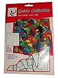 ARTY'S Gutta Collection - Motiv: Crowd - Pongé 05, ca. 90x90cm, rollierte Ränder (Gutta schwarz)