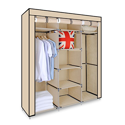 triple-canvas-wardrobe-cupboard-clothes-storage-solution-with-hanging-rail-storage-shelves-150cm-x-4