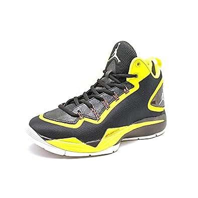 Nike Air Jordan Super.Fly 2 PO Basketball Schuhe black-white-vibrant yellow-infrared - 46