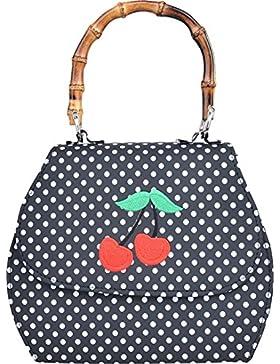 Küstenluder Damen Tasche Gwen Punkte Kirschen Handtasche