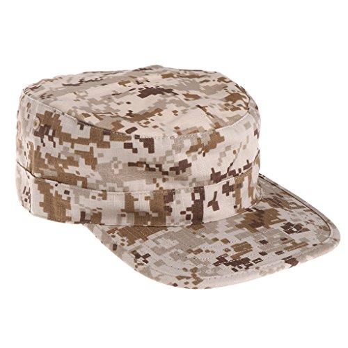 Lamdoo Army Tactical Camouflage Cap Visier Sun Baseball Kappen Herren Outdooor Camo Flach Hüte, Desert Digital, 59 cm