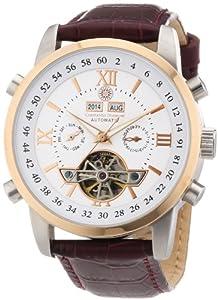 Reloj Constantin Durmont Calendar de caballero automático con correa de piel marrón - sumergible a 30 metros de Constantin Durmont