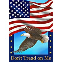 Don' t Tread on Me American Flag & Eagle bandiera giardino Dimensioni 30,5 x 45,7 cm decorativo
