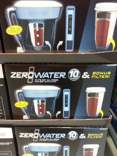 Zerowater 10 Cup Pitcher W/replacement Filter by ZeroWater