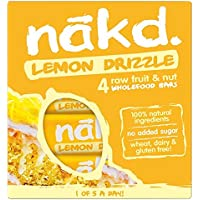 Nakd barras Gateau limón/Lemon Drizzle – sin gluten, sin lactosa, Crue Certificado