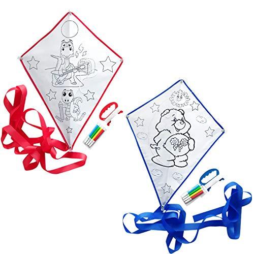 Bea's party 20 aquiloni per dipingere gli aquiloni per i bambini aquilone per bambini divertenti disegni aquiloni da colorare include un set di dipinti regalo