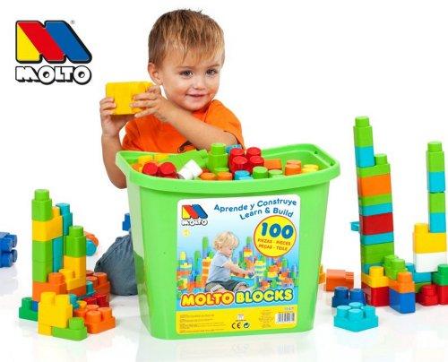 Imagen principal de Molto Y Cia 12471 - Construccion Caja 100 Piezas, color surtido