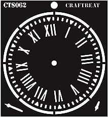 """CrafTreat Clock Stencil 6""""X6"""""""