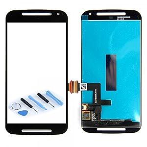 Display LCD Komplett Einheit für Motorola Moto G2 XT1068 Reparatur Schwarz + Werkzeug Opening Tool