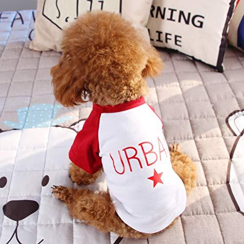 LXLLXL Hundebekleidung Frühling Und Herbst Dünner Kleiner Hund Teddy Fado Than Bear Zweispurige Flut Haustierkleidung Sommer T-Shirt