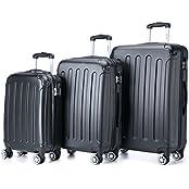 BEIBYE 3 tlg.Kofferset 2045 Reisekofferset Koffer Trolley Hartschale in 12 Farben
