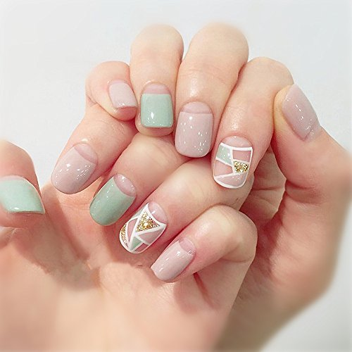 shine-s-24pcs-pack-short-square-false-nails-short-french-manicure-acrilico-unghie-finte-glitter-con-