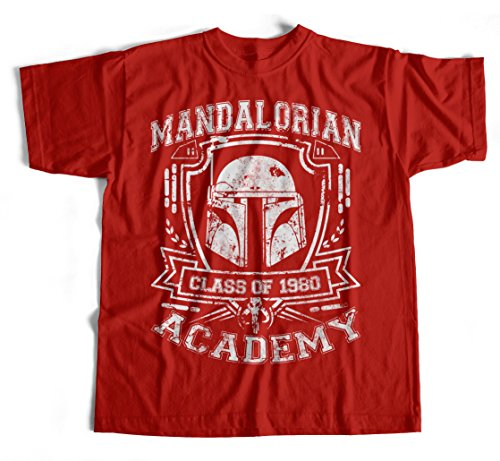 T-Shirt Mandalorian Academy Schwarz Star Wars Fun,Kult,Jedi,Stormtrooper Jedi