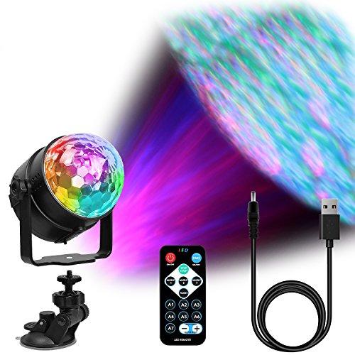 LED Discokugel USB 4M Cable,Benma Discokugel Kinder Partylicht Disco Lichteffekte Discolicht Beleuchtung Lampe Wasserwelle Effekte Bühnenbeleuchtung für Kinder Weihnachten Geburtstag Hausparty Bar (Licht Bars Strobe)