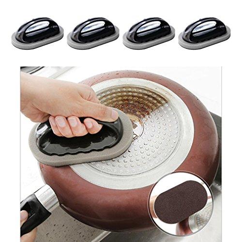 (4 - er packung nano emery mit mit schwamm und küche mit geschirrspüler, mit magie und säuberst die fett rost und schmutz kochgeschirr/bad - Arbeitsplatte Magie