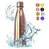 Festnight Bottiglia Termica per Acqua Borraccia Acciaio Lavastoviglie 500ml, Senza BPA Borracce Sportiva Calda Freddo per Bambini Palestra Ufficio Bici