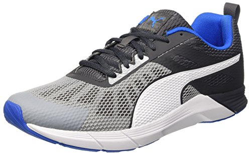 Puma Propel, Scarpe da Corsa Uomo Quarry/Asphalt/Electric Blue Lemonade/Bianco