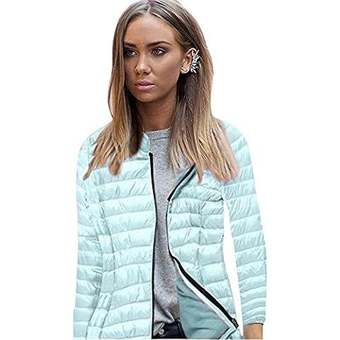 Fortan Manica lunga con cappuccio inverno delle donne del rivestimento del cappotto della chiusura (Pelliccia Bomber Giacca In Pelle)