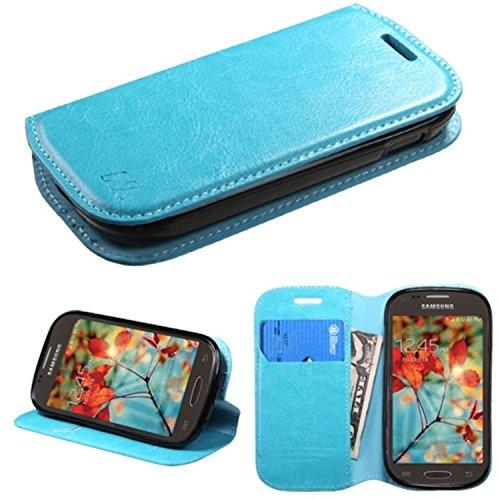 MyBat MyJacket Brieftasche mit Fach (564) für Samsung T399 Galaxy Light, Einzelhandelsverpackung, Blau (T399 Für Samsung Cover)