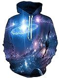 LAIDIPAS Unisex 3D Gedrucktes Kapuzen Sweatshirt Lässige Paar Pullover Hoodie Große Taschen XL