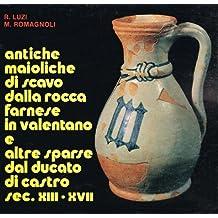 Antiche maioliche di scavo dalla rocca Farnese in Valentano e altre sparse dal Ducato di Castro. Sec. XIII-XVII