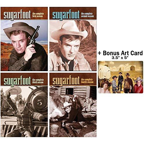 Sugarfoot: Complete Classic Western TV Series Seasons 1-4 DVD Collection + Bonus Sticker