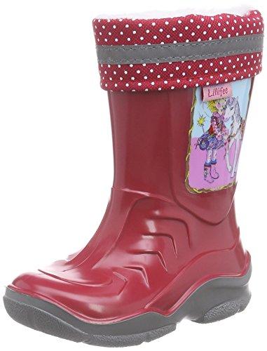 Prinzessin Lillifee 120115, Bottes mi-hautes en caoutchouc avec doublure chaude fille Rouge - Rouge