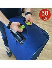 Tatkraft Portable Báscula Digital para Equipaje Tamaño de Bolsillo Fijación de resultados en 1 min Indicador de Sonido