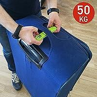 Tatkraft Portable Digital Luggage Scale 50Kg/110Lbs Suitcase Travel Pocket Size Sound Indicator Result Fixation Green
