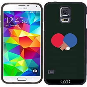 SilikonHülle für Samsung Galaxy S5 (SM-G900) - Tischtennisschläger Und Ball...