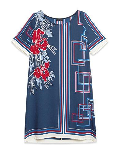 Elena mirò 31p87147t03367, vestito donna, multicolore (blu 01), 54 (taglia produttore:45)