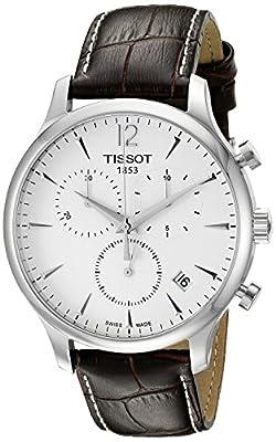 Tissot T0636171603700 T063.617.16.037.00 - Reloj para hombres, correa de cuero color marrón