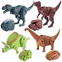 Kids Simulatio Dinosaur Toy Model Deformed Dinosaur Egg Collection For Party Game Gift Favour for Boys Girls Children BaojunHT®(Random)