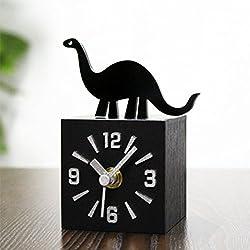CHLWW Creatividad Personalidad Diversión Parque Jurásico 3D Dinosaurios La Imitación Madera Texturas Reloj
