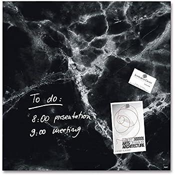 c08aa24216 SIGEL GL320 Tableau magnétique en verre, 48 x 48 cm, marbre noir - Artverum