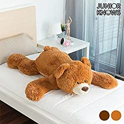 Oso de Peluche Gigante Tender Junior Knows - Marrón Oscuro