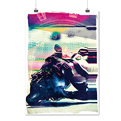 Motor Bike Racer USA Speed King Matte/Glossy Poster A4 (30cm x 21cm)   Wellcoda