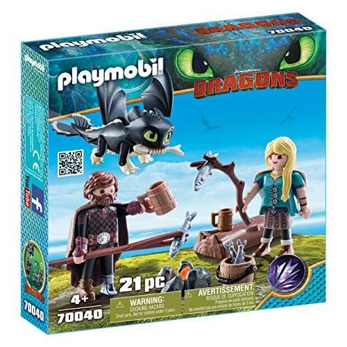 PLAYMOBIL- HIPO y Astrid con Bebé Dragón Juguete, Multicolor, 18.7 x 18.7 x 4.4 cm (geobra Brandstätter 70040) 7