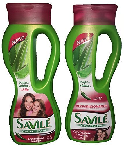 Savile Biotina Pulpa de Sabila y Chile Shampoo/Acondicionador (Shampoo and Conditioner) by Savile