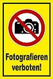 Aufkleber - Fotografieren verboten! Kamera Photographieren - entspr. DIN ISO 7010 / ASR A1.3 – 15x10cm – S00355-033-C +++ in 20 Varianten erhältlich