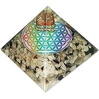 Mondstein Pyramide Heilung Kristalle Reiki organite Pyramide Reiki Spritual Geschenk mit Rot Geschenk Tasche preisvergleich bei billige-tabletten.eu